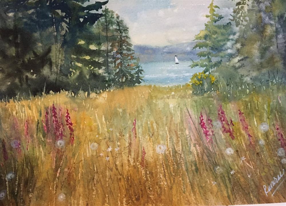 """Summer meadow"" original fine art by Natasha Ramras"