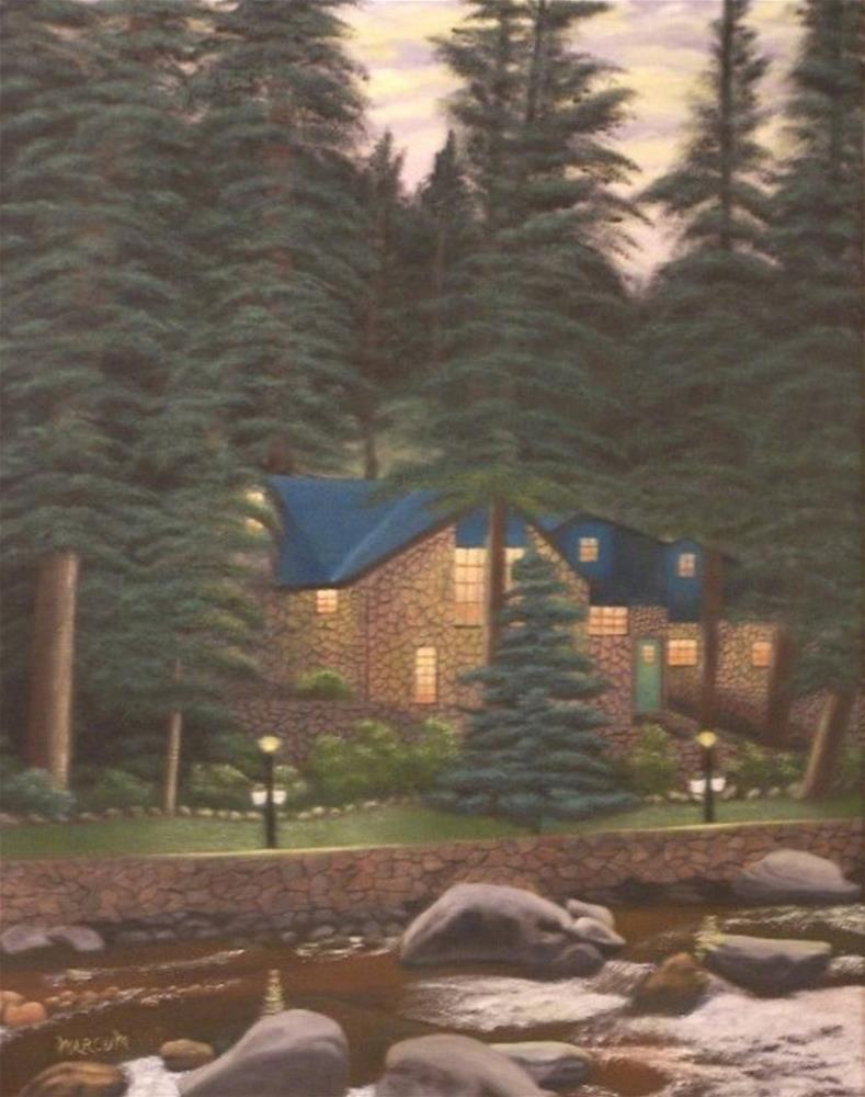 """Mountain Hideaway"" original fine art by John Marcum"