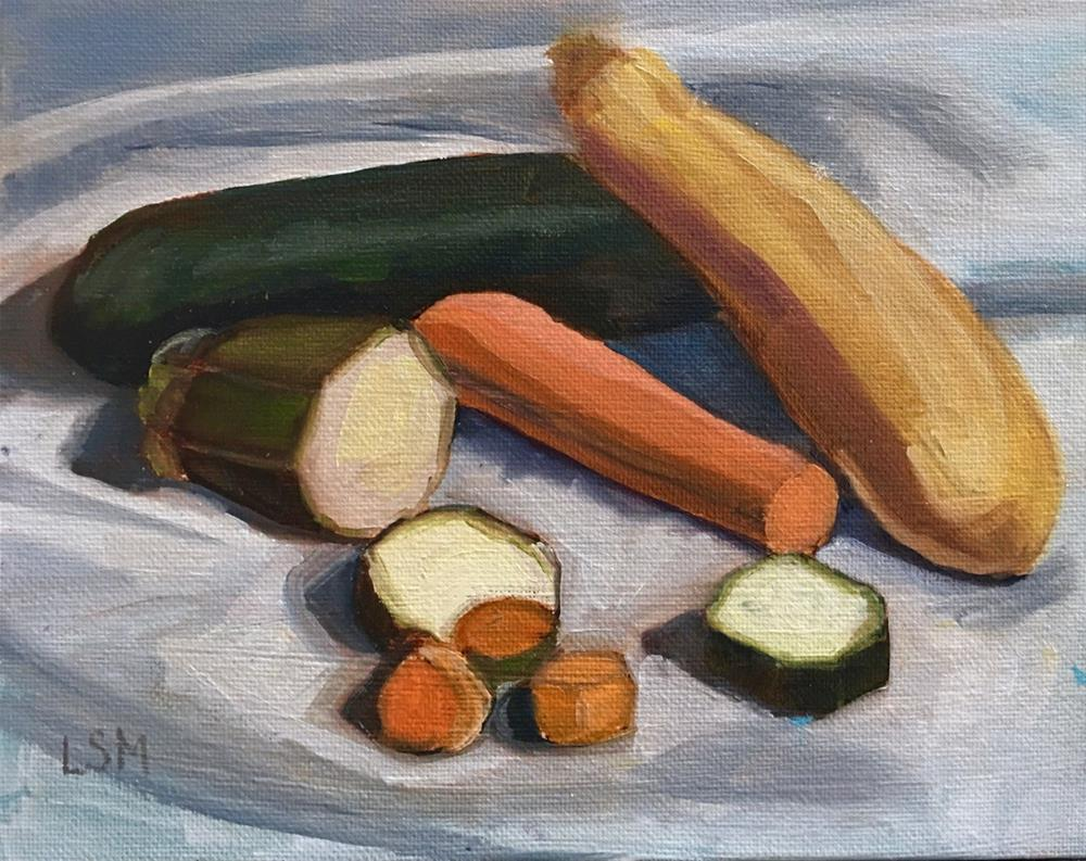 """Veggie Soup"" original fine art by Linda Marino"