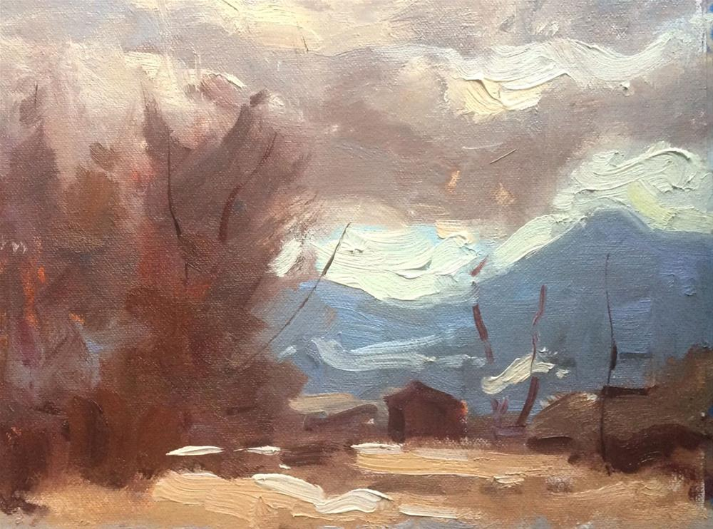"""Passing Clouds"" original fine art by Michael Clark"