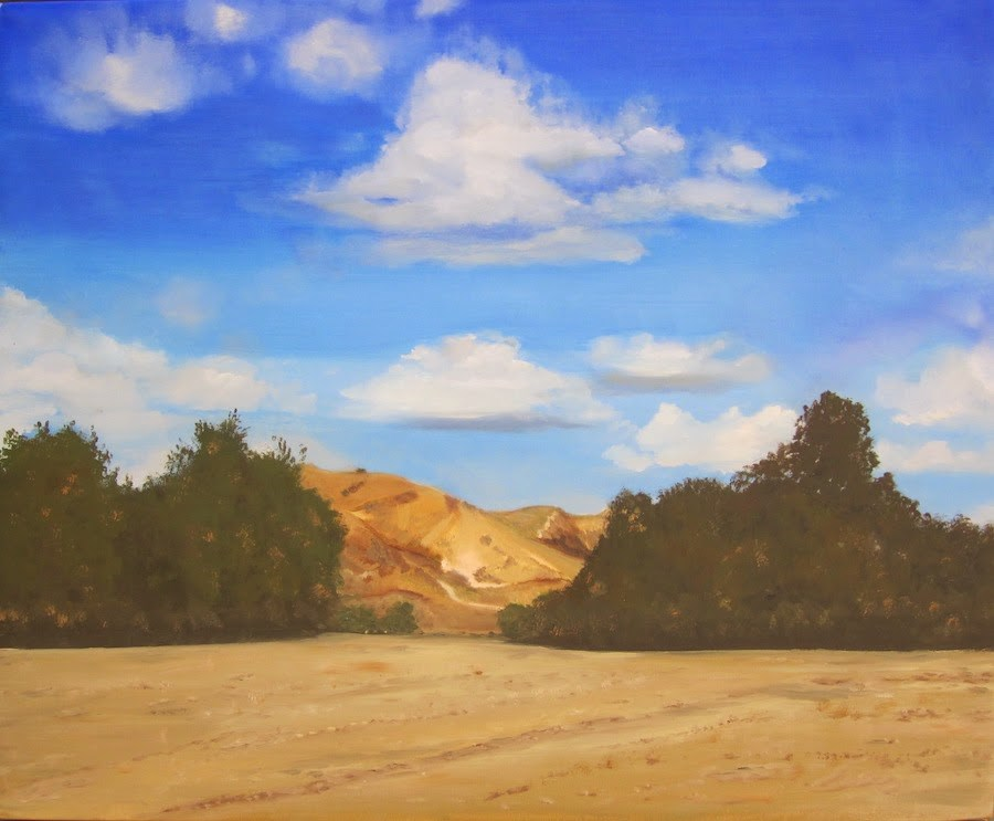 """My Hills"" original fine art by Karen Stitt"