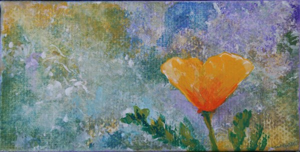 """California Poppy 2"" original fine art by Jana Johnson"