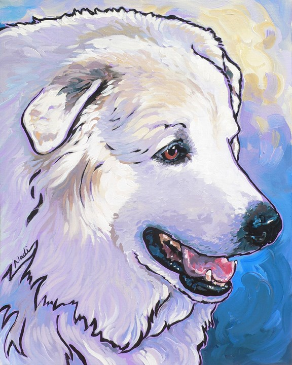 """#13/58 Snowdoggie"" original fine art by Nadi Spencer"