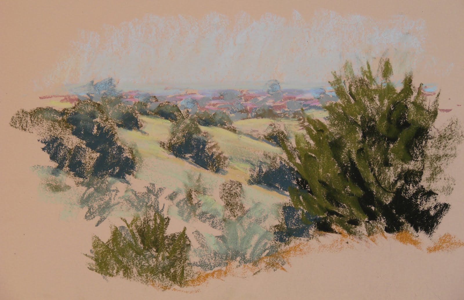 """From the Hillside"" original fine art by Rita Kirkman"