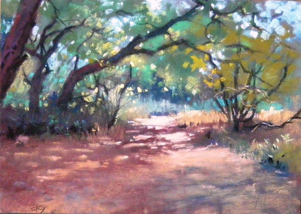 """""""Eaton canyon A.M."""" original fine art by Celine K.  Yong"""