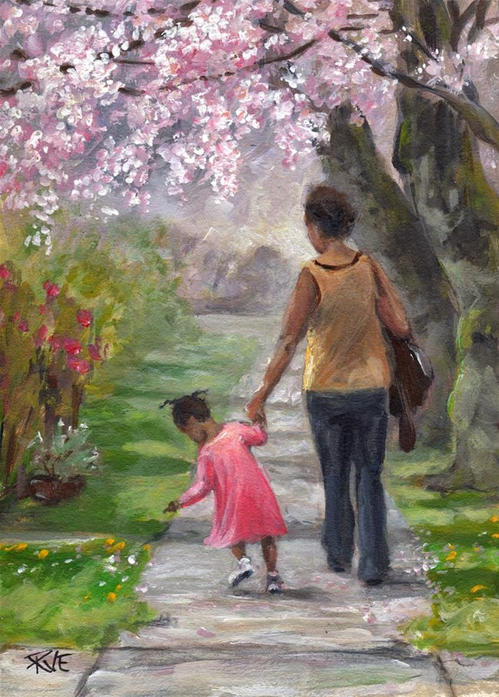 """Sunday walk"" original fine art by Ruth Van Egmond"