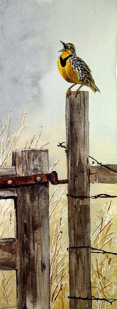 """M is for Meadowlark"" original fine art by Andy Sewell"