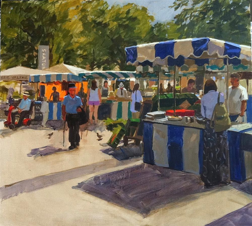 """Duke of York square"" original fine art by Haidee-Jo Summers"