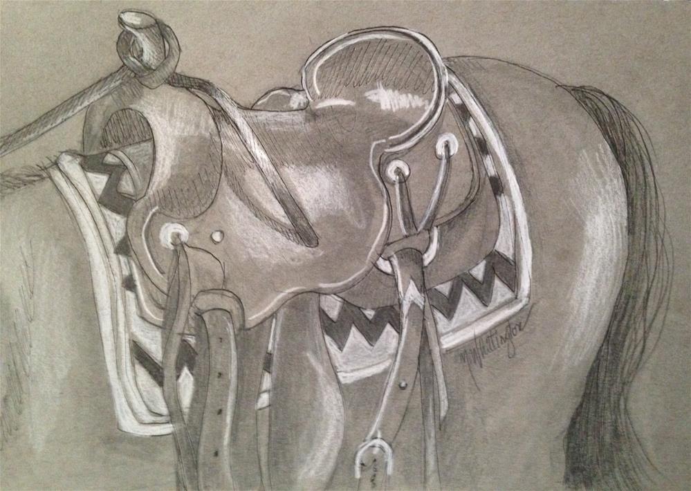 """""""Saddle Up"""" original fine art by Margie Whittington"""