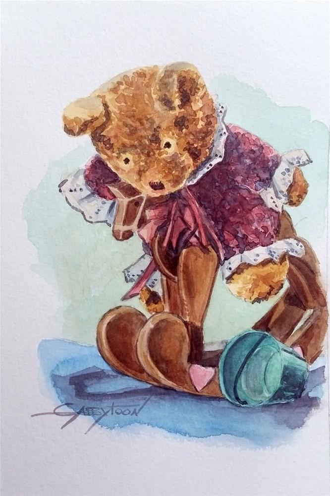 """Bear On The Horse"" original fine art by Gabriella DeLamater"