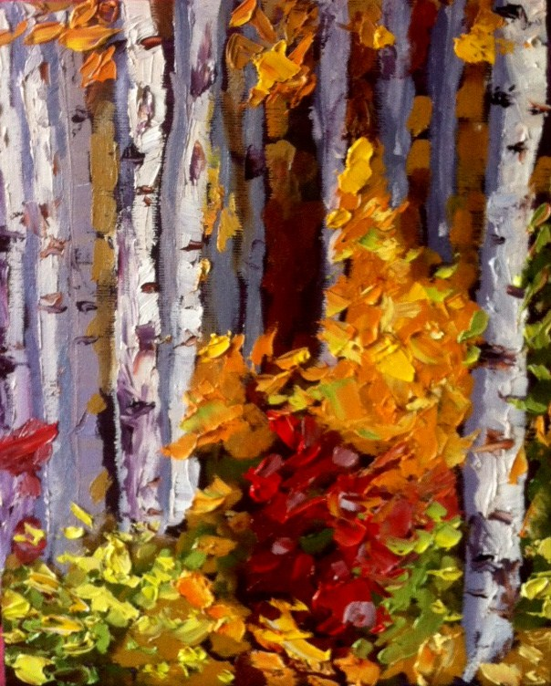 """Birch Challenge"" original fine art by Kristen Dukat"