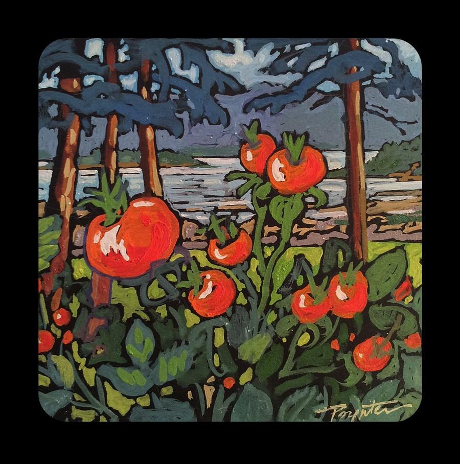 """3.11 Rathrevor rosehip"" original fine art by Jan Poynter"