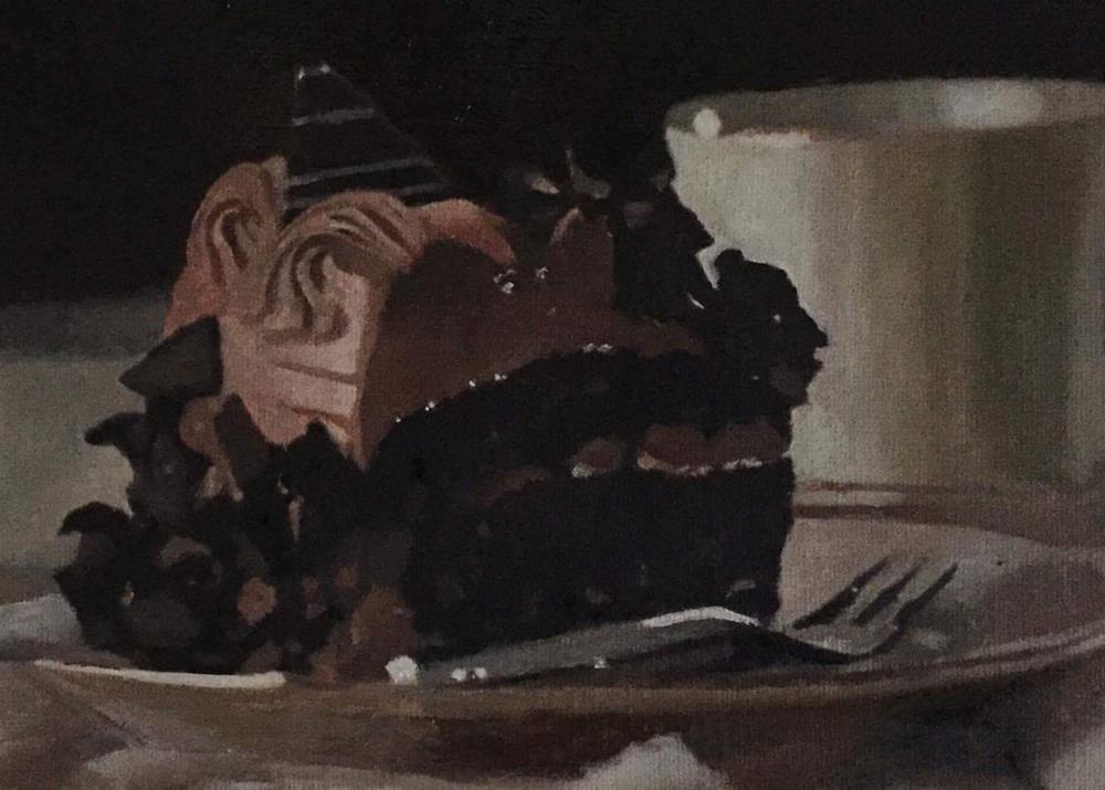 """Chocolate Cake"" original fine art by John Cameron"