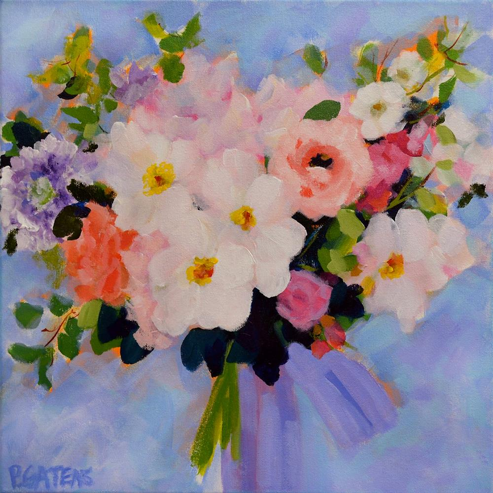 """Greenbrier Bridal Bouquet"" original fine art by Pamela Gatens"