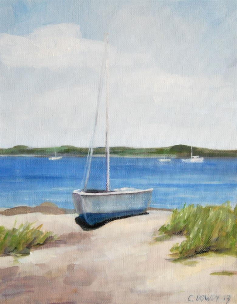 """Study, Sailboat at Midday"" original fine art by Christina Dowdy"