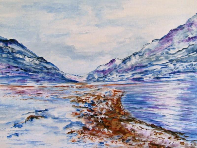 """Turn Left at Greenland"" original fine art by Nan Johnson"
