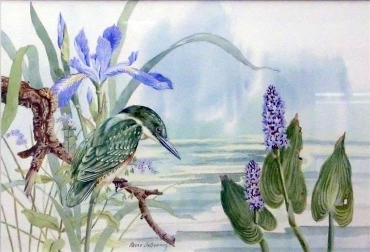 """""""Kingfisher"""" original fine art by Jean Pierre DeBernay"""