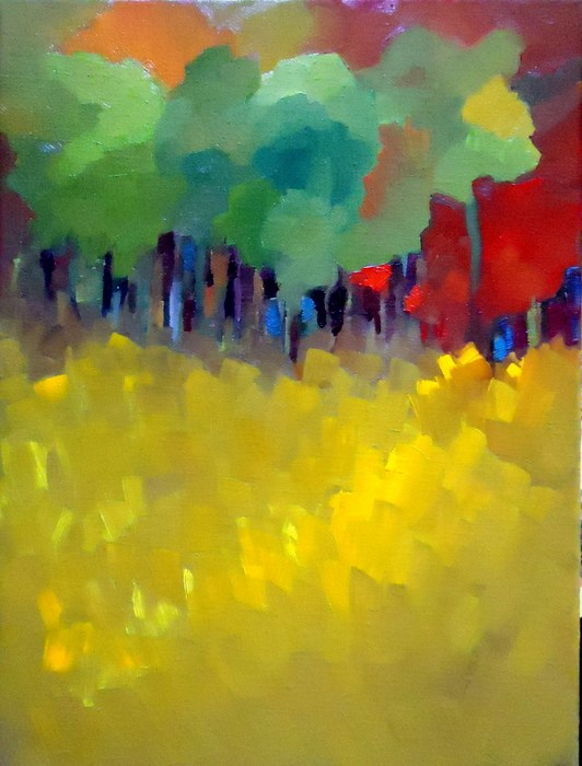 """Following Fall"" original fine art by Laurie Mueller"