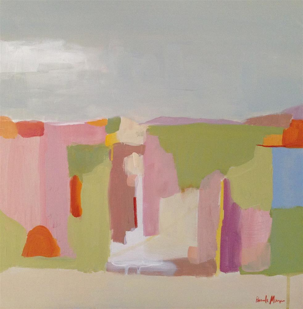 """Spring Abstract Landscape"" original fine art by Pamela Munger"