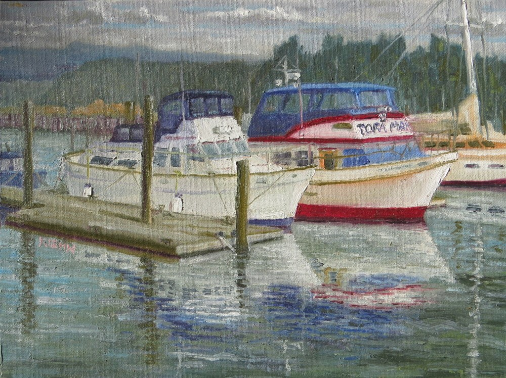"""Port of Bandon"" original fine art by Richard Kiehn"