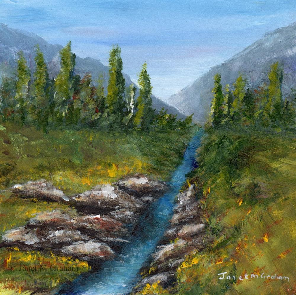 """Summer Stream"" original fine art by Janet Graham"