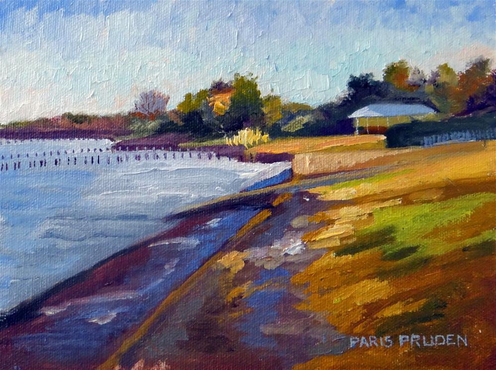 """Dock of the Bay"" original fine art by Nancy Paris Pruden"