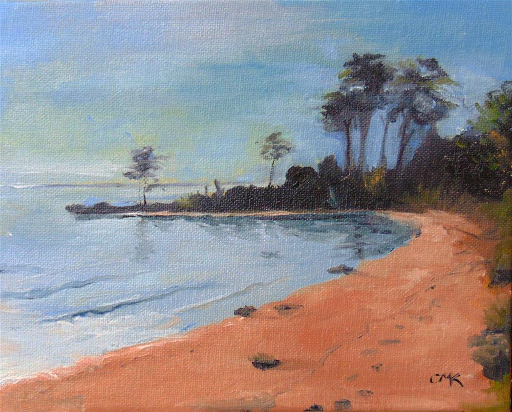 """Dameron Beach"" original fine art by Catherine Kauffman"