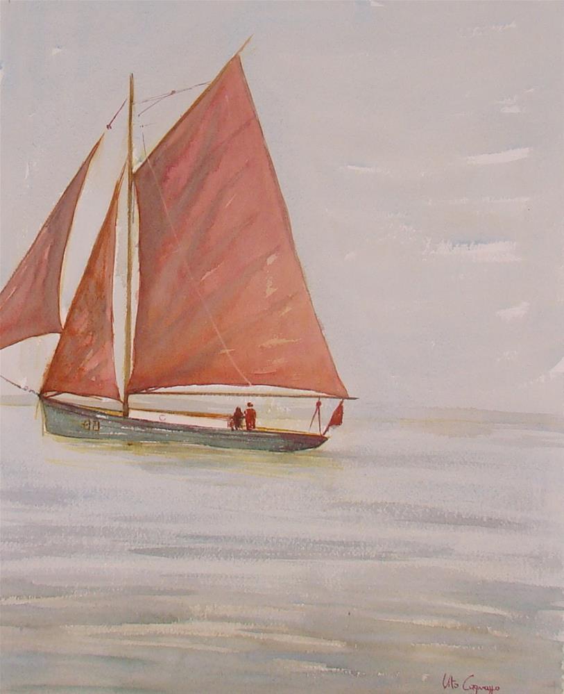 """""""Old boat"""" original fine art by Vito Cagnazzo"""