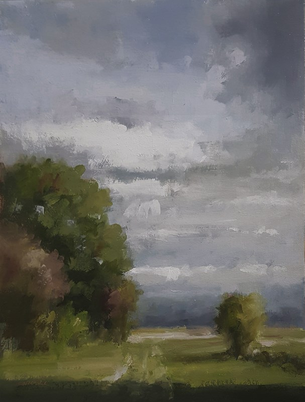 """Afternoon Landscape"" original fine art by Neil Carroll"