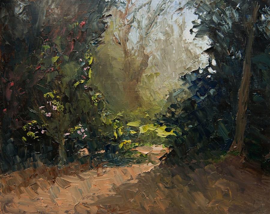 """Just around the Corner"" original fine art by Jethro Knight"