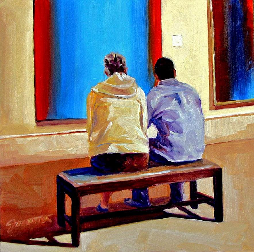"""Couple@Museum-3"" original fine art by Joanna Bingham"