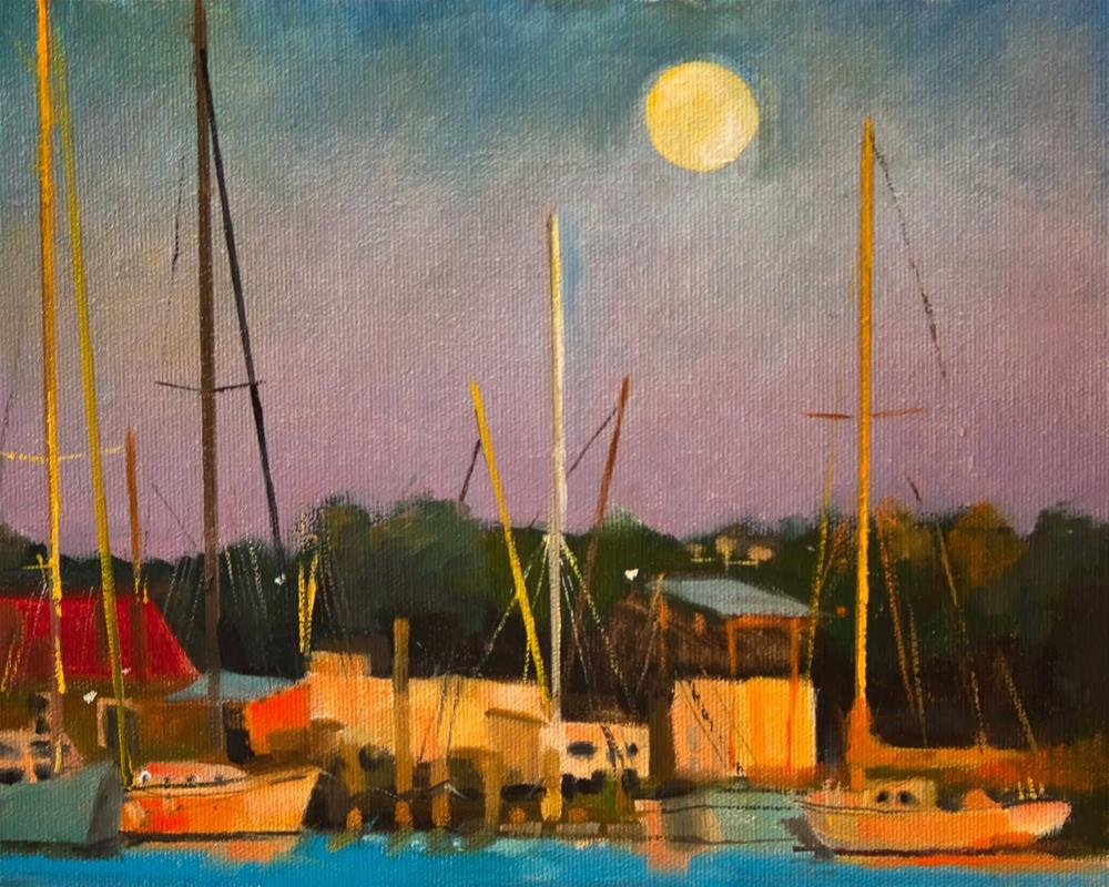 """Shem Creek"" original fine art by Beth Bathe"