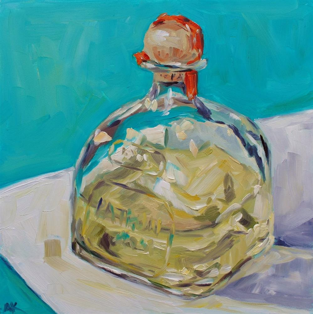 """Patron Bottle"" original fine art by Alison Kolkebeck"