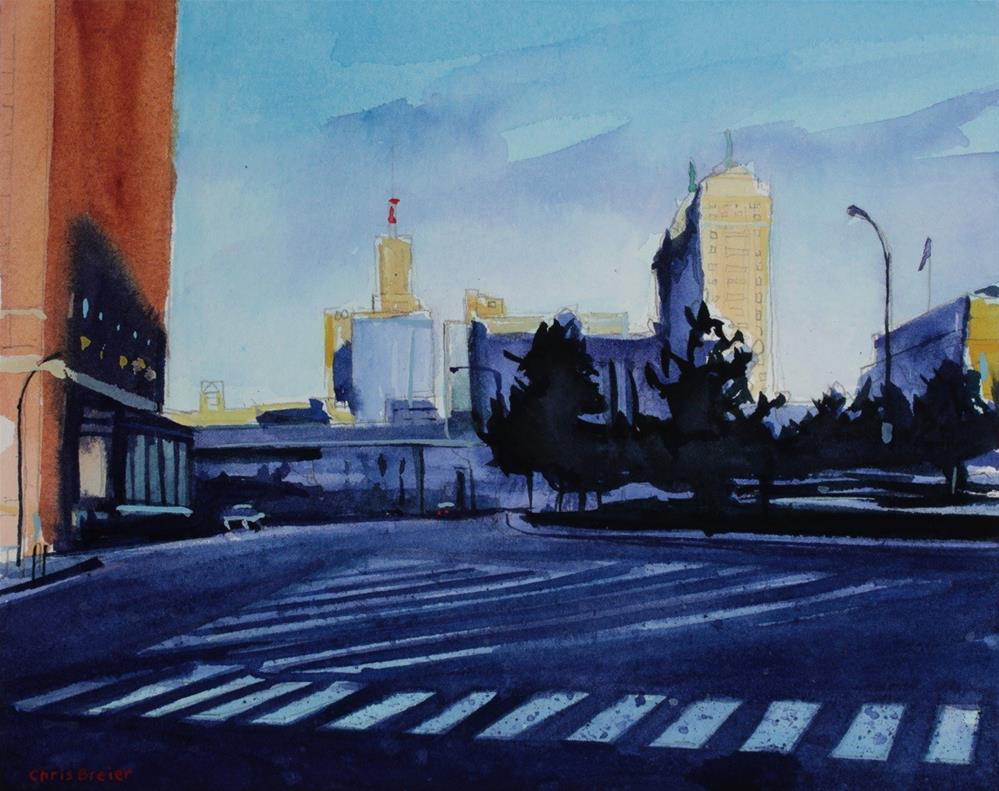 """Niagara Square"" original fine art by Chris  Breier"