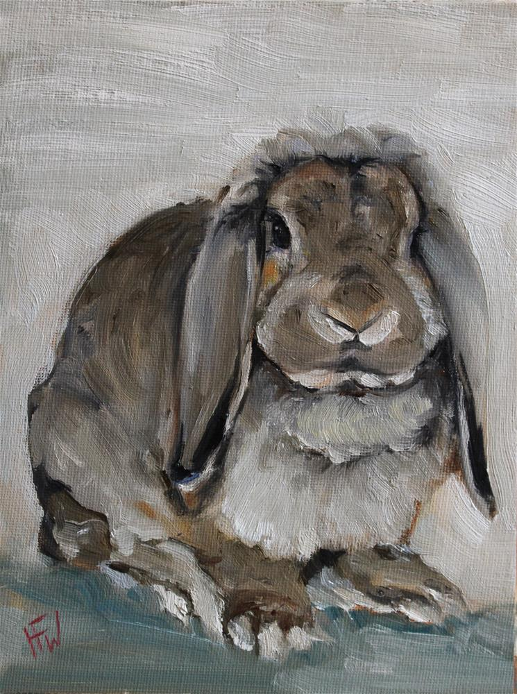 """Mini Lop"" original fine art by H.F. Wallen"