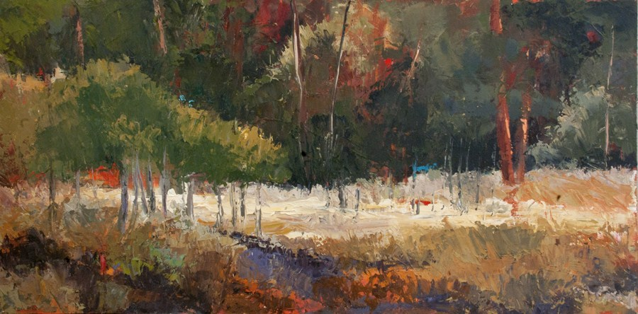 """KM2769 Into the Woods by Colorado Contemporary artist Kit Hevron Mahoney"" original fine art by Kit Hevron Mahoney"