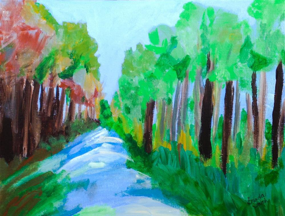 """River View"" original fine art by Brenda Smith"