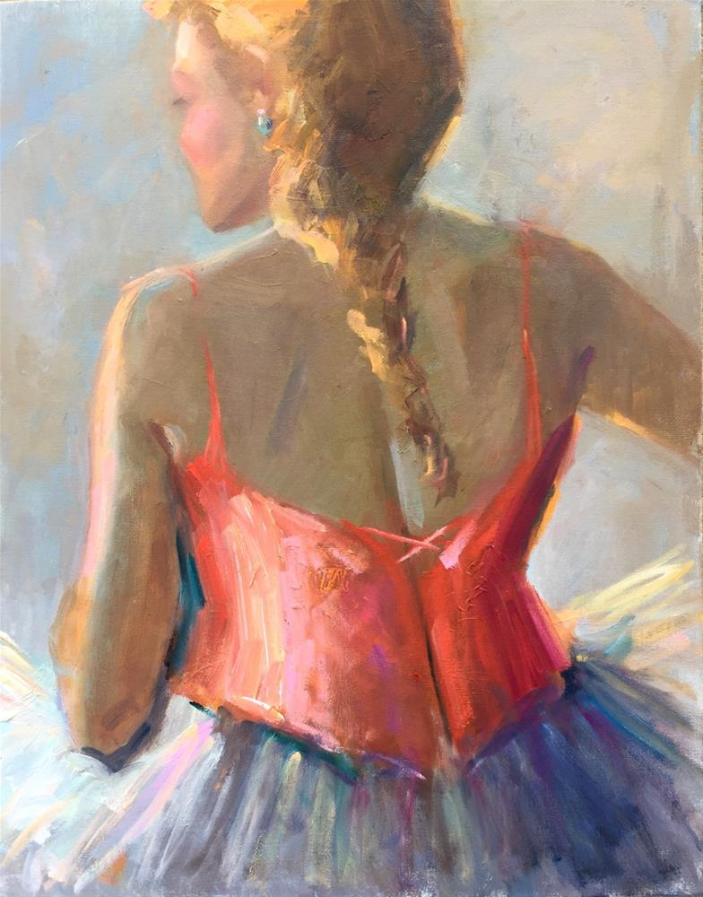 """Degas Encounter"" original fine art by Johanna Spinks"