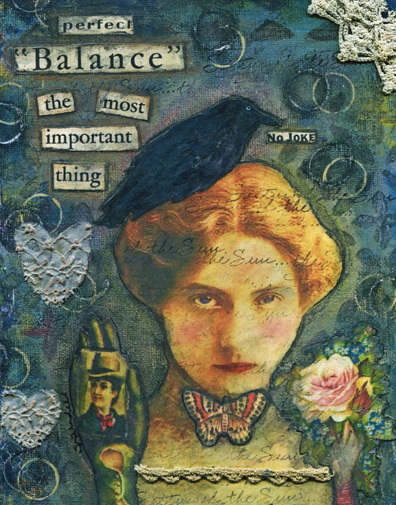 """Balance"" original fine art by Sonja Sandell"