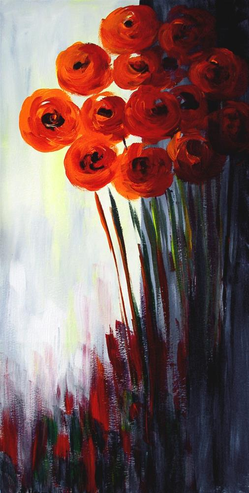 """Scarlet Bouquet"" original fine art by Anna Vreman"