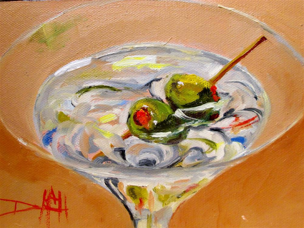 """Martini Two Olives"" original fine art by Delilah Smith"