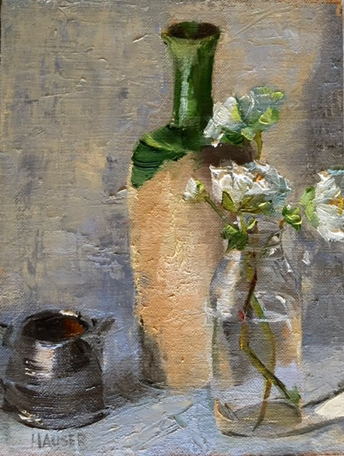 """Fall Anemone in Green"" original fine art by Alice Hauser"