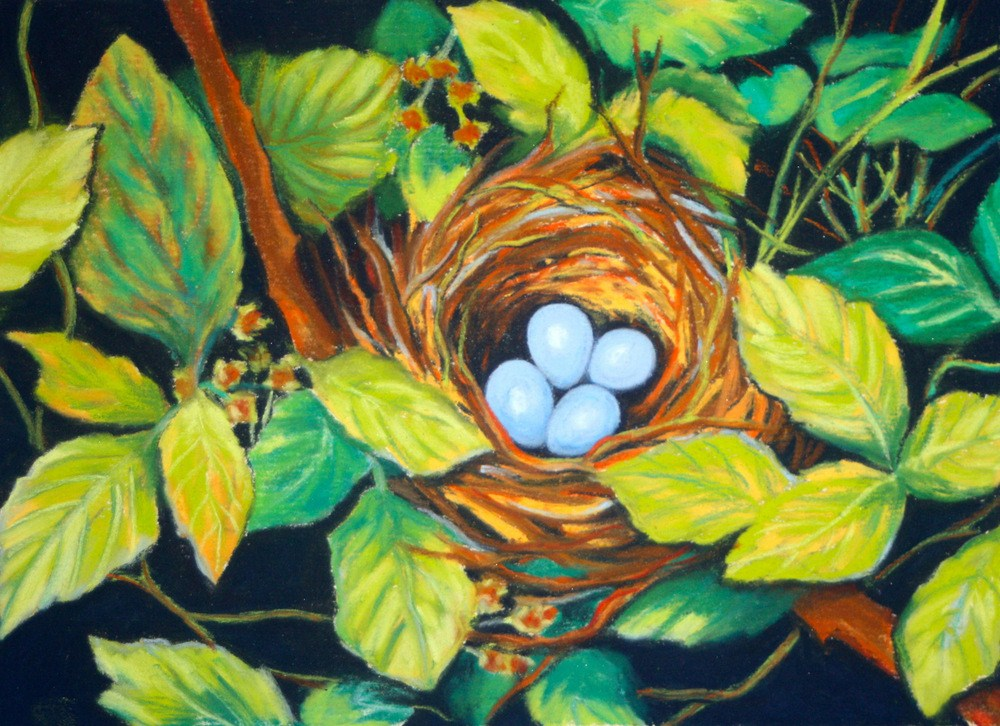 """Sky Blue"" original fine art by Jill Bates"