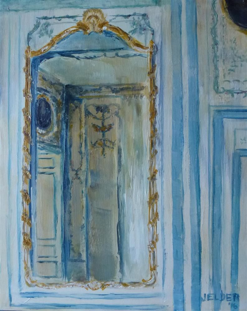 """Mirror at Versailles"" original fine art by Judith Elder"