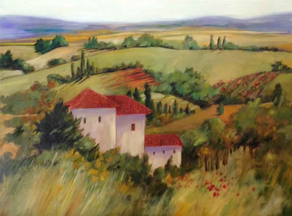 """Tuscan Country"" original fine art by Libby Anderson"