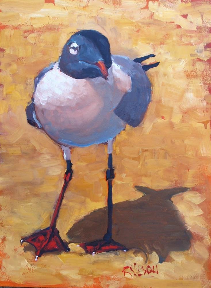 """Silent Seagull"" original fine art by Rick Nilson"