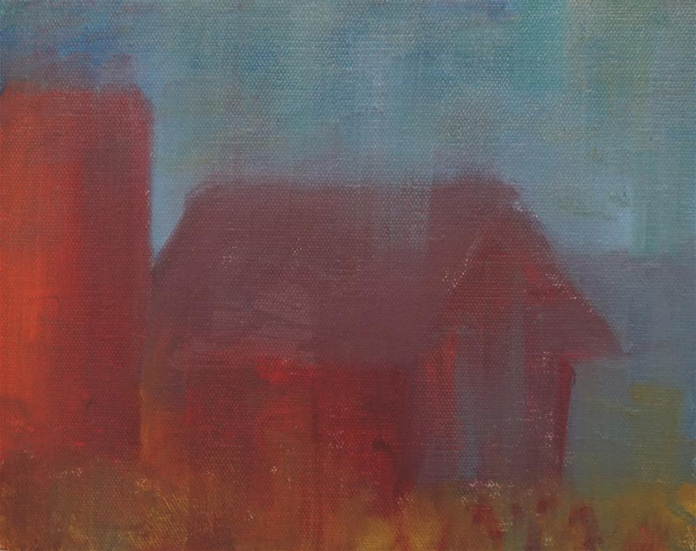 """Old Barn"" original fine art by Catherine Van Berg"
