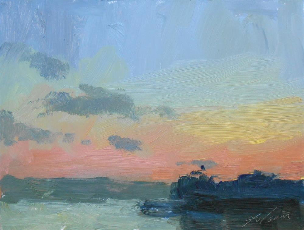 """Clouds after the Sunset"" original fine art by Kelli Folsom"