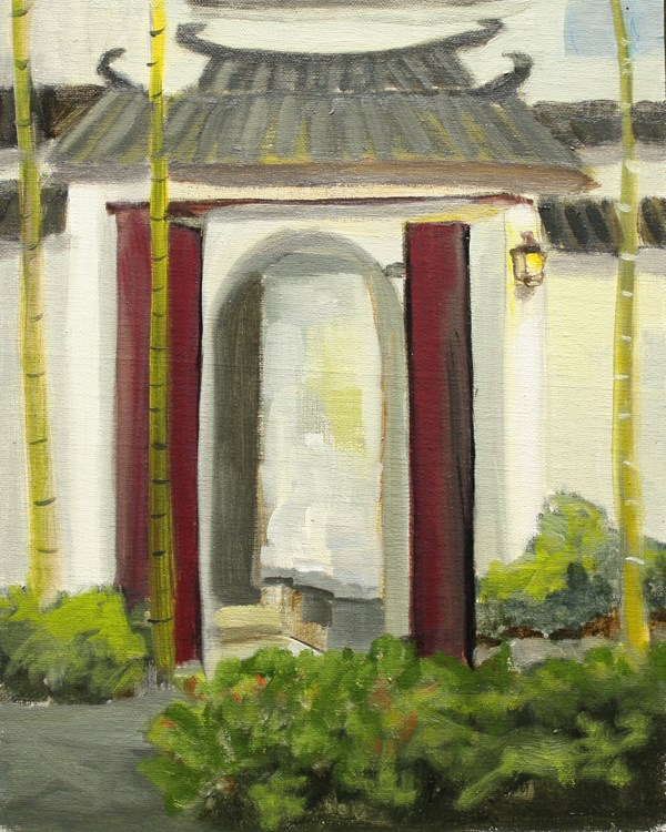 """Xidi Village Gateway"" original fine art by Jane Frederick"