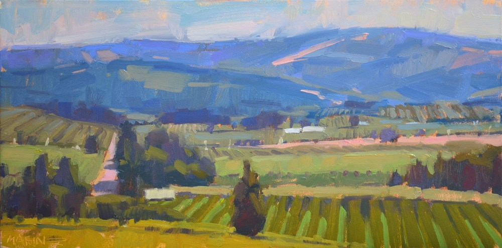 """Fertile Valley"" original fine art by Carol Marine"